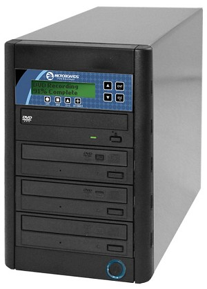 Microboards CopyWriter PRO CD/DVD Tower Duplicator, 3-Bay