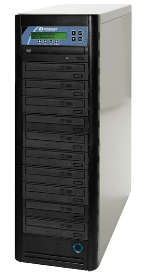 Microboards CopyWriter Pro CD/DVD Tower Duplicators, 10-Tower, Network Attach
