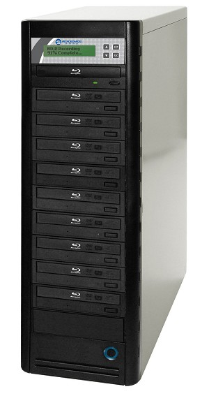 Microboards Quic Disc Blu-Ray Tower Duplicator, 10-Bay