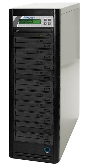 Quic Disc DVD Duplicator, 10-Bay + 500 GB Hard Drive